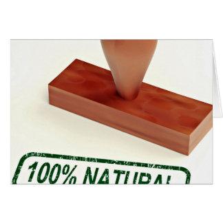 El sello de goma que produce la calidad natural tarjeta de felicitación