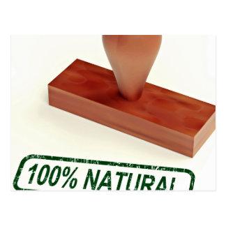 El sello de goma que produce la calidad natural postal