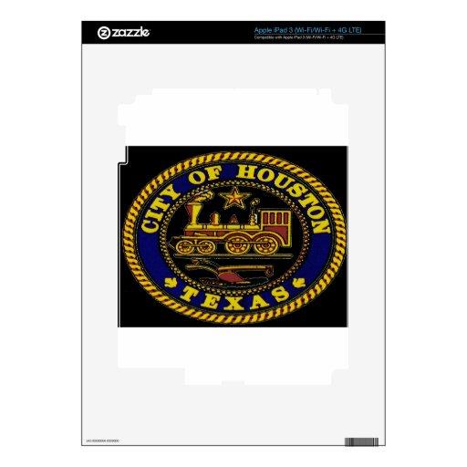 El sello de Houston Pegatina Skin Para iPad 3