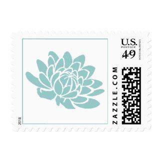 El sello de la flor de Lotus turquesa