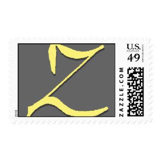 El sello de la letra Z