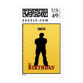 El sello de la película del cumpleaños (muchacho)