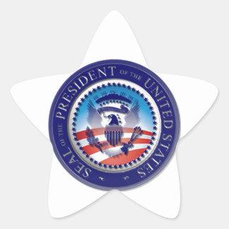 El sello de Obama Pegatina En Forma De Estrella
