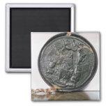 El sello de rey Charles II Imán Cuadrado