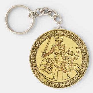 El sello de rey Edward I Llavero Redondo Tipo Pin