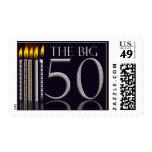 El sello grande de 50 cumpleaños