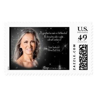 El sello gris de la colección de la diosa del pelo