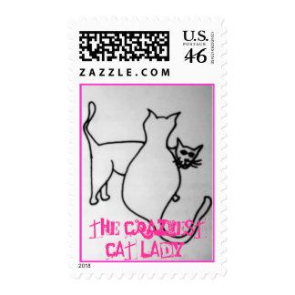 el sello más loco de la señora del gato