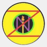 El sello oficial de Zion Pegatina Redonda