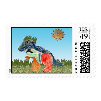 El sello preocupante del dinosaurio