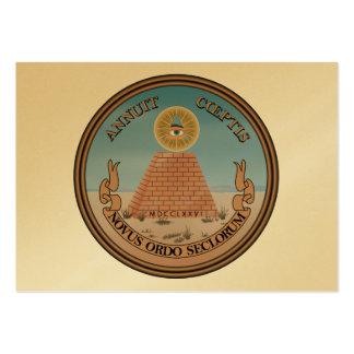 El sello presidencial del dorso (anverso) tarjeta de visita