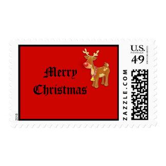 el sello rojo sospechado rojo del reno