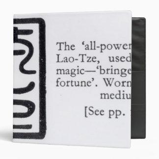 """El sello """"todopoderoso"""" del lao-Tze Carpeta 1 1/2"""""""