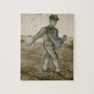 El sembrador 1881 lápiz pluma y tinta marrón rompecabezas con fotos