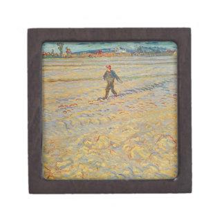 El sembrador, 1888 (aceite en lona) cajas de joyas de calidad