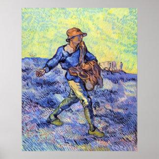 El sembrador 1 de Vincent van Gogh Posters