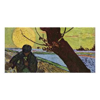 El sembrador de Vincent van Gogh Tarjeta Fotografica