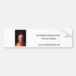 El semental más grande del mundo septentrional del pegatina de parachoque