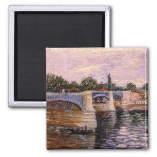 El Sena con el Pont del Grande Jette de Van Gogh Imán Para Frigorifico