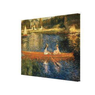 El Sena de Renoir en Asnières (el Skiff) Ca 1879 Impresión En Tela