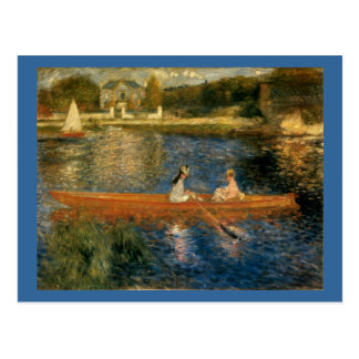 El Sena de Renoir en Asnières (el Skiff) Ca 1879 Postales