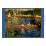 El Sena de Renoir en Asnières (el Skiff) Ca 1879 Tarjetas