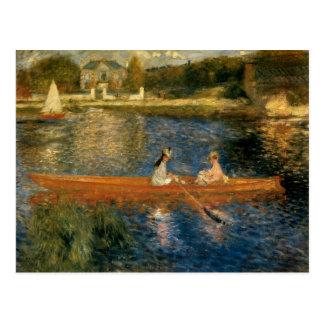 El Sena de Renoir en Asnières (el Skiff) Ca 1879 Tarjeta Postal