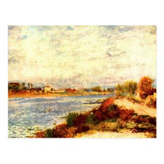 El Sena en Argenteuil de Pedro Renoir Tarjetas Postales