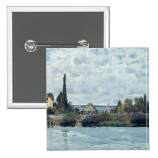 El Sena en Bougival, 1873 Pin Cuadrada 5 Cm