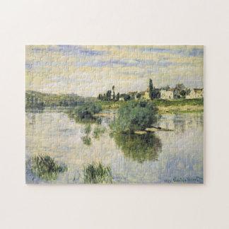 El Sena en la bella arte de Lavacourt Monet Puzzles