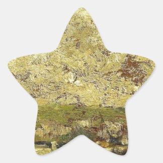 El Sena en Ruán de Camille Pissarro Pegatina En Forma De Estrella