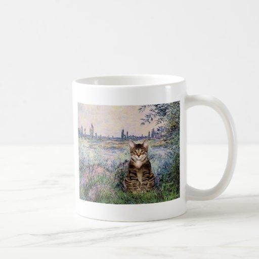 El Sena - gato de tigre del Tabby 30 Taza De Café