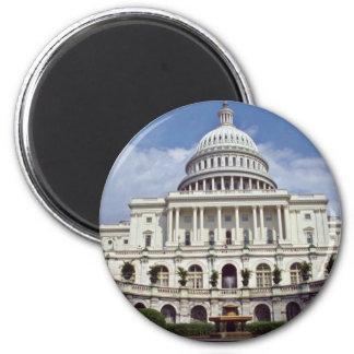 El senado, Washington, flores de la C.C. Imán Redondo 5 Cm