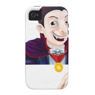 El señalar de Drácula del dibujo animado de Hallow iPhone 4/4S Carcasa