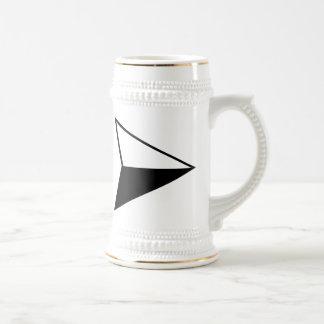 El señalar de la flecha jarra de cerveza