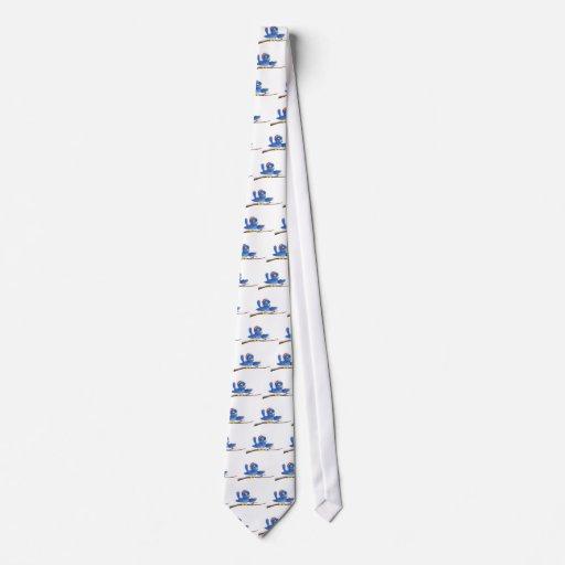 El señalar del bluebird del navidad corbata personalizada