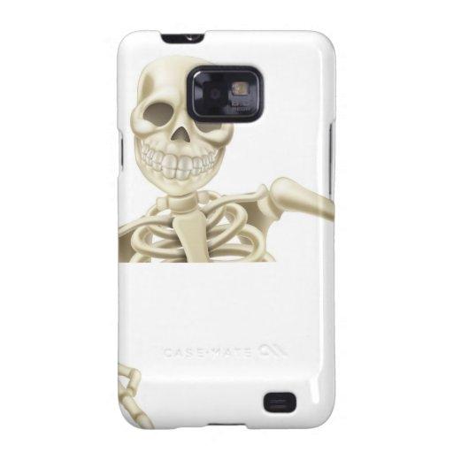 El señalar del esqueleto de Halloween Samsung Galaxy S2 Carcasas