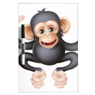 El señalar del mono del chimpancé del dibujo pizarra