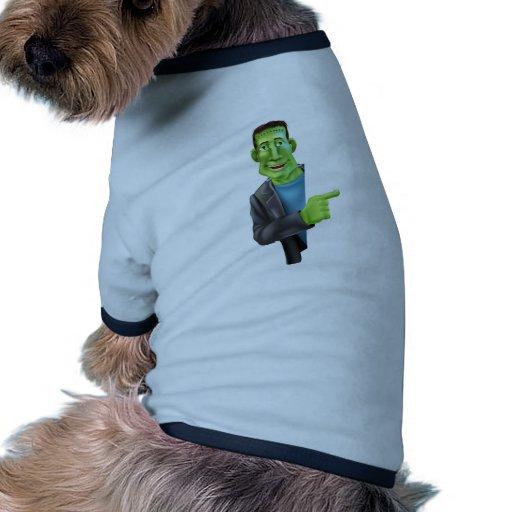 El señalar del monstruo de Frankensteins Ropa Perro