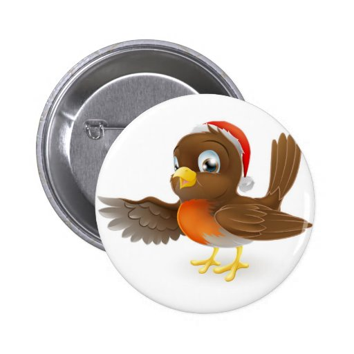 El señalar del pájaro del petirrojo del navidad pin