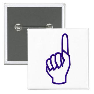 El señalar encima del dedo/de la mano pin