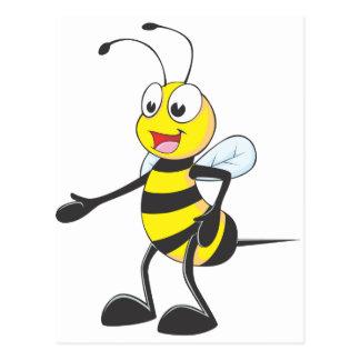 El señalar feliz de la abeja postal