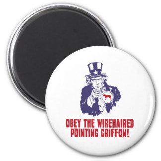 El señalar Griffon Wirehaired Imán Para Frigorífico
