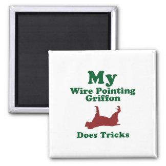 El señalar Griffon Wirehaired Imán Para Frigorifico