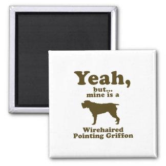 El señalar Griffon Wirehaired Imán Cuadrado