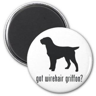 El señalar Griffon Wirehaired Imán Redondo 5 Cm