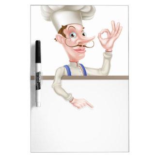 El señalar perfecto de la muestra del cocinero pizarras blancas de calidad