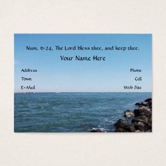 El señor Bless Thee, tarjeta de visita