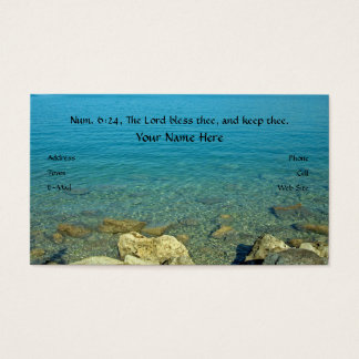 El señor Bless Thee, verso de la biblia Tarjetas De Visita