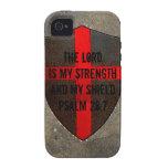 El señor del 28:7 del salmo es mi fuerza y escudo vibe iPhone 4 carcasas